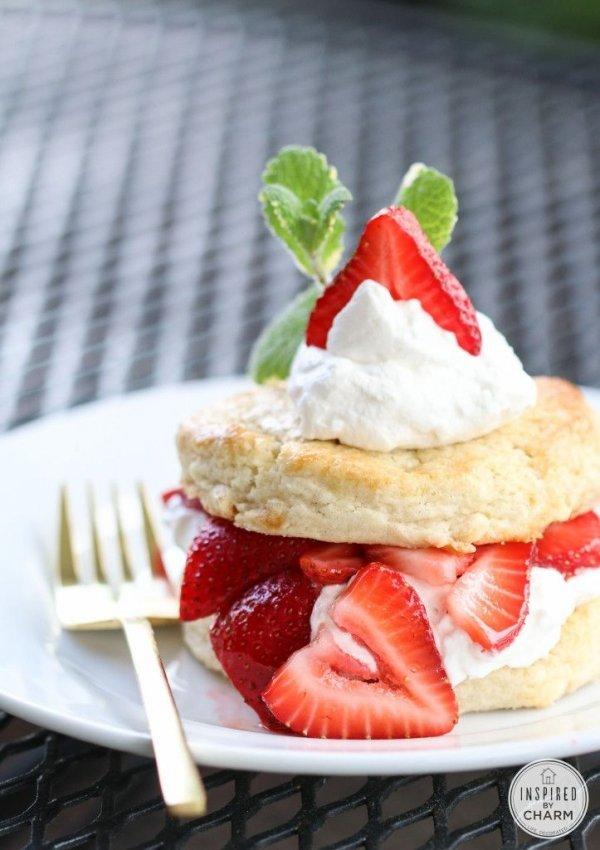 White Chocolate Strawberry Shortcake