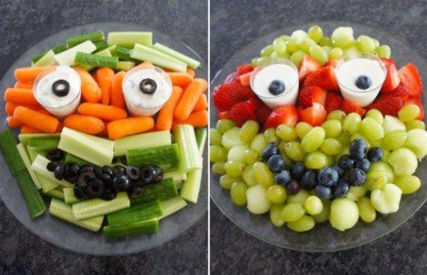 Ninja Turtle Vegetable Plates