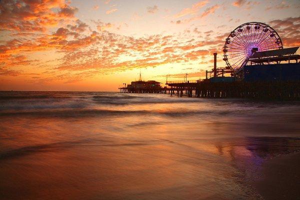 sea, body of water, horizon, sky, sunset,