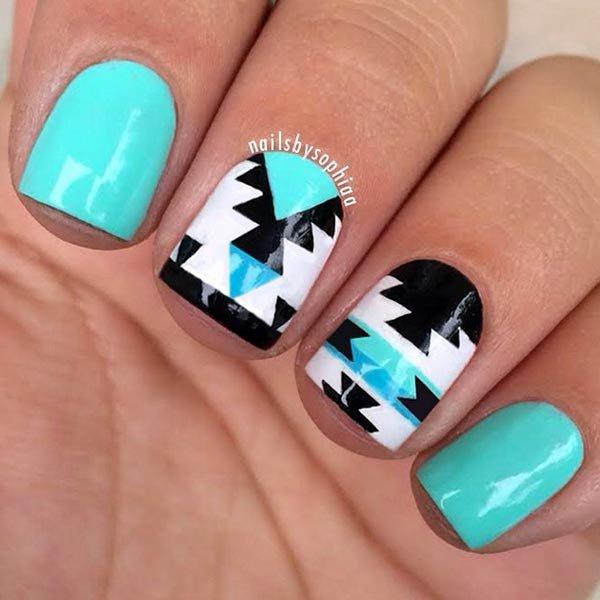 nail, finger, nail care, blue, green,