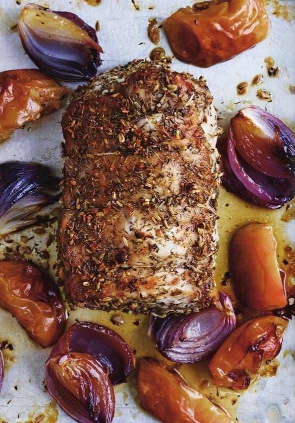 Roast Pork Loin with Veggies