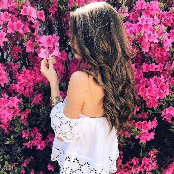 pink, flower, woman, bride, dress,