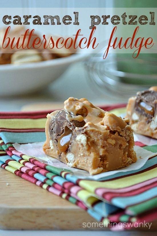 Caramel Pretzel Butterscotch Fudge