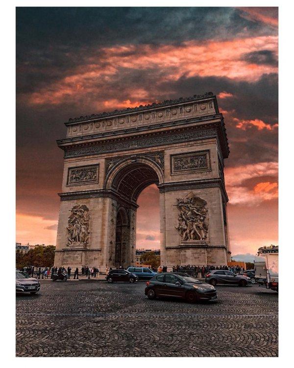 sky, landmark, arch, cloud, architecture,