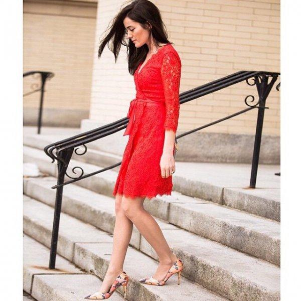 Flirty Lace Dress