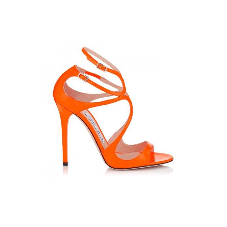 footwear, high heeled footwear, orange, shoe, leg,