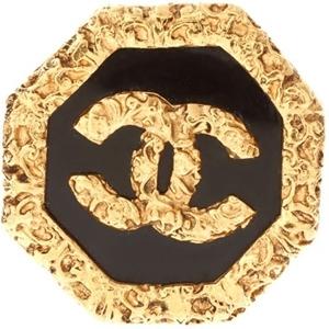 Vintage Chanel Octagon Logo Brooch