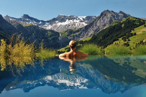 Wildstrubel, mountainous landforms, lake, wilderness, mountain,