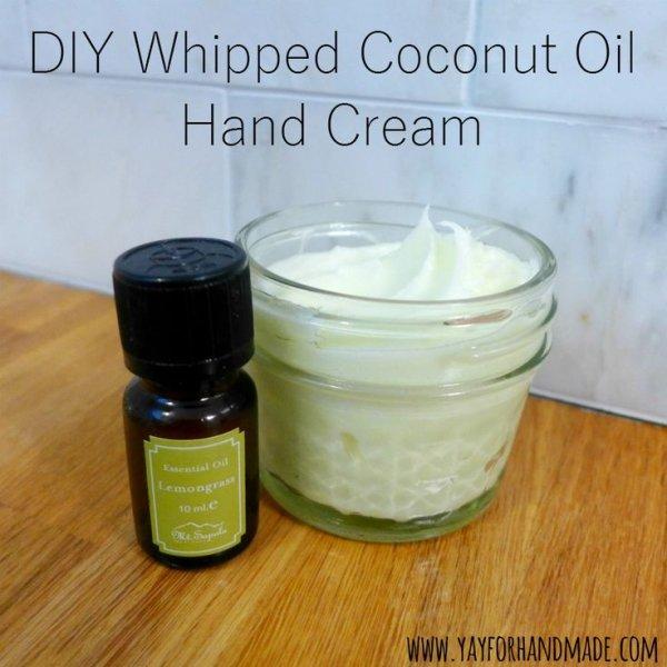 DIY Whipped Coconut Oil Hand Cream