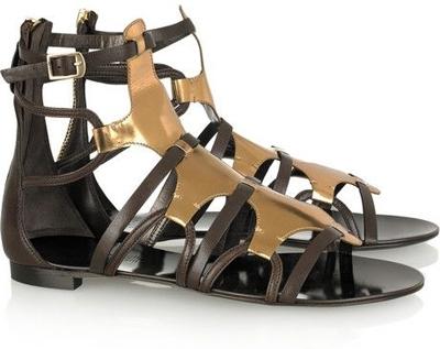Roberto Cavalli Patent-Leather Gladiator Sandals