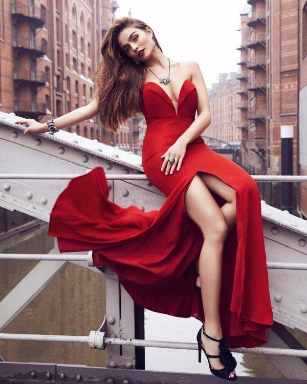 clothing, red, lady, dress, photo shoot,