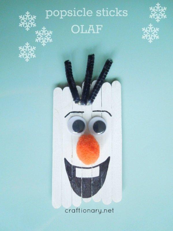 Popsicle Sticks Olaf