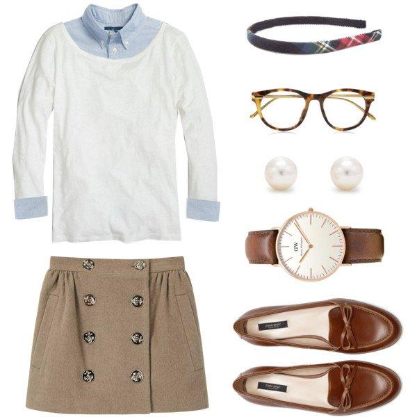 Khaki Skirt and a Headband
