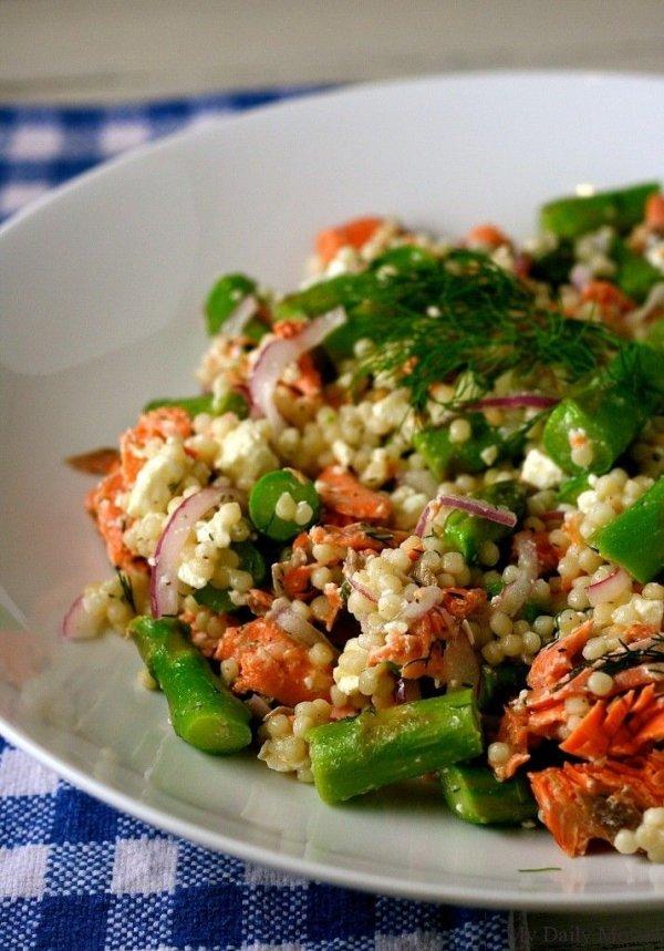 Salmon, Asparagus, and Couscous Salad