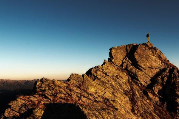 sky, mountainous landforms, rock, ridge, mountain,