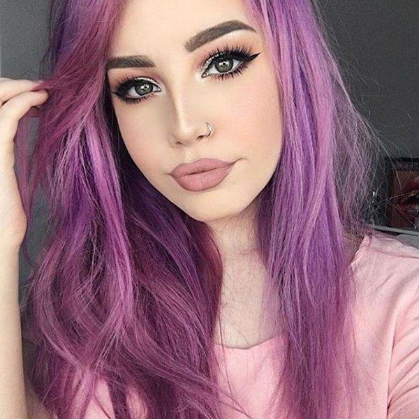 hair, human hair color, color, face, purple,