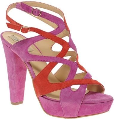 Dune Gizella Multi Coloured Platform Sandals