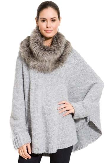 Michael Kors Fake Fur Poncho