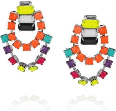 Tom Binns Ethno Teknik Hand-Painted Swarovski Crystal Earrings