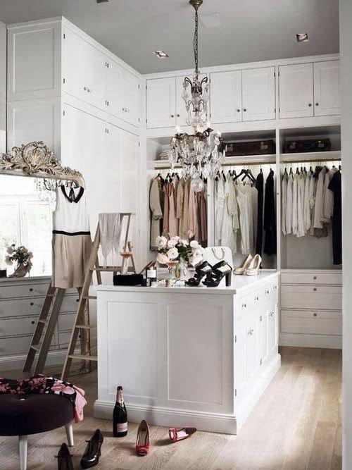 Vintage Inspired Walk-in Closet