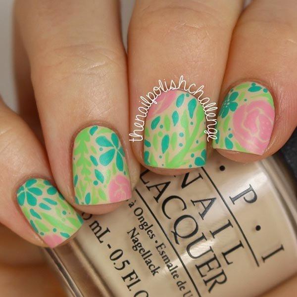 color, nail, finger, pink, green,