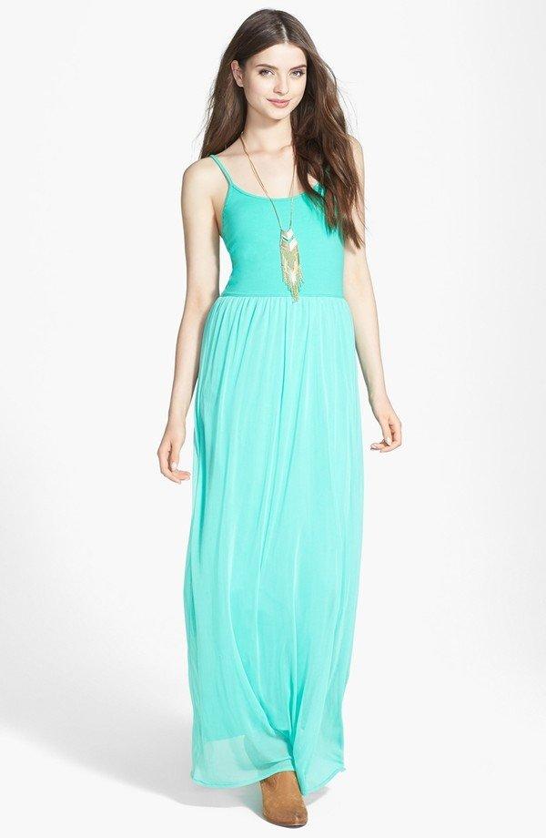 V-Strap Maxi Dress
