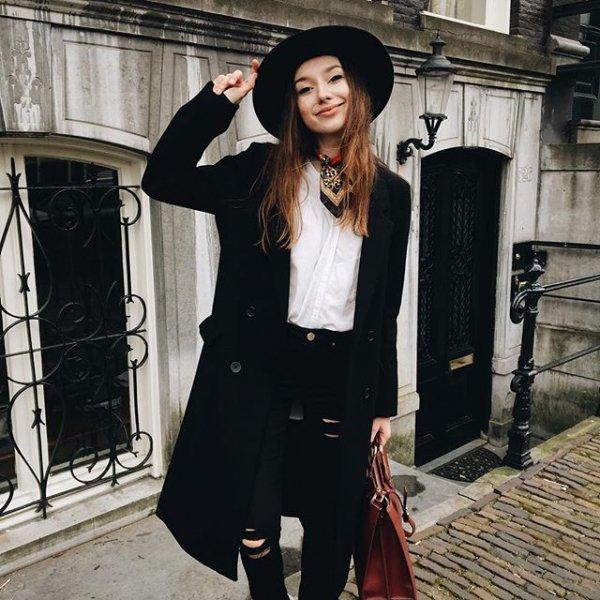 black, clothing, dress, fur, outerwear,
