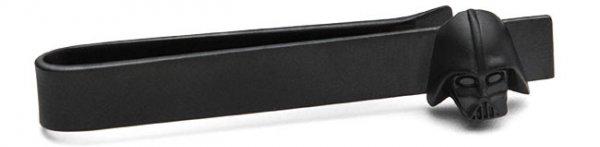 Matte Black 3D Darth Vader Tie Bar