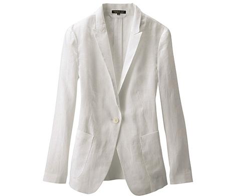 Uniqlo Premium Linen Long Tailored Jacket