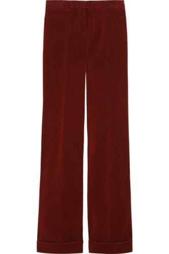 Miu Miu Stretch Corduroy Wide-Leg Trousers