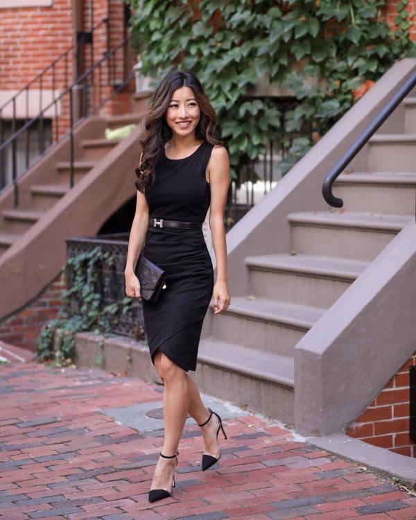 footwear, lady, beauty, dress, little black dress,