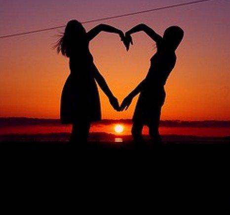 human action,sunset,romance,emotion,silhouette,