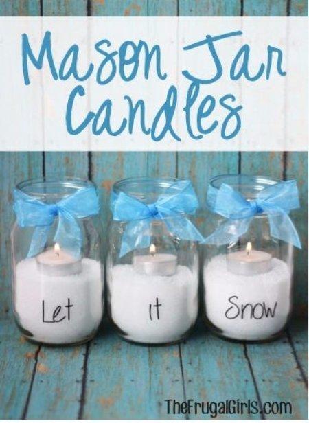 Let It Snow Candles