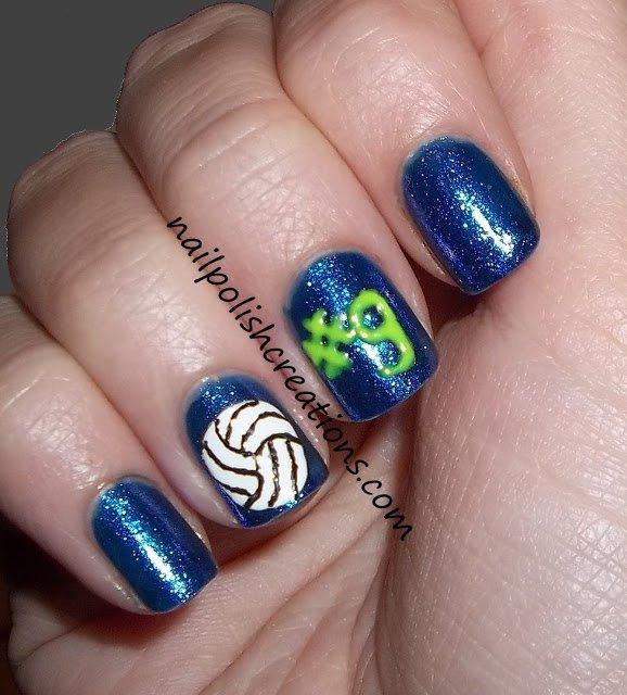 Volleyball Nail Art