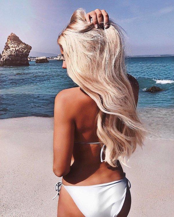 swimwear, human hair color, supermodel, long hair, blond,