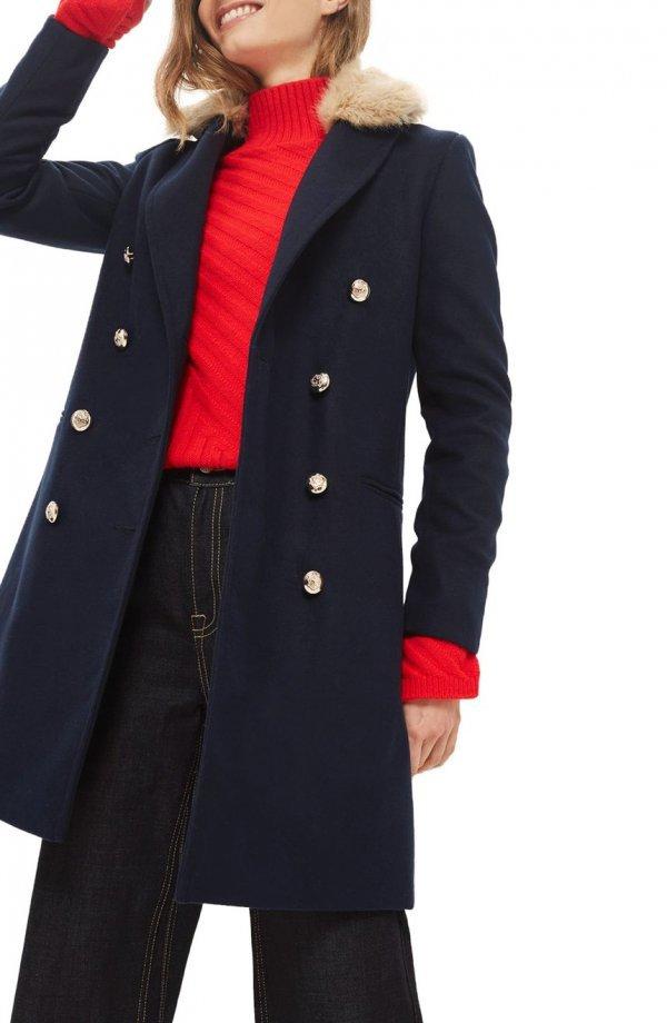 coat, overcoat, trench coat, fashion model, fur,