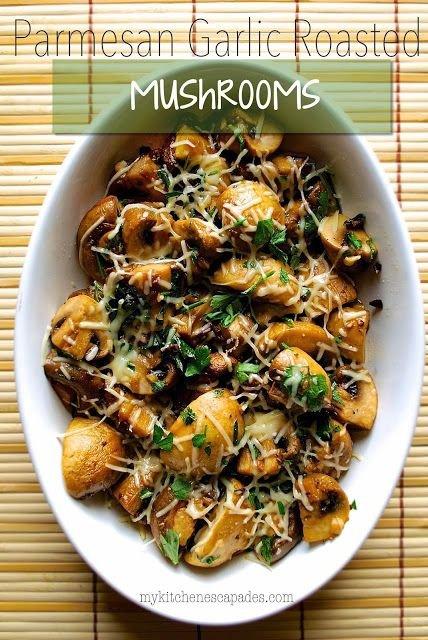 Parmesan Garlic Roasted Mushrooms