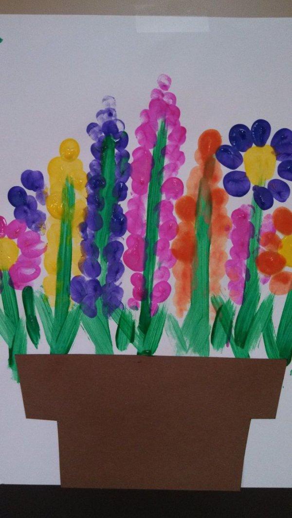 Fingerprint Flower Gardens
