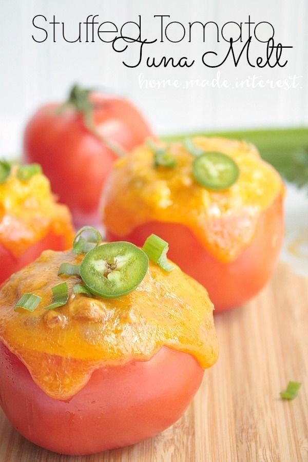 Stuffed Tomato Tuna Melts