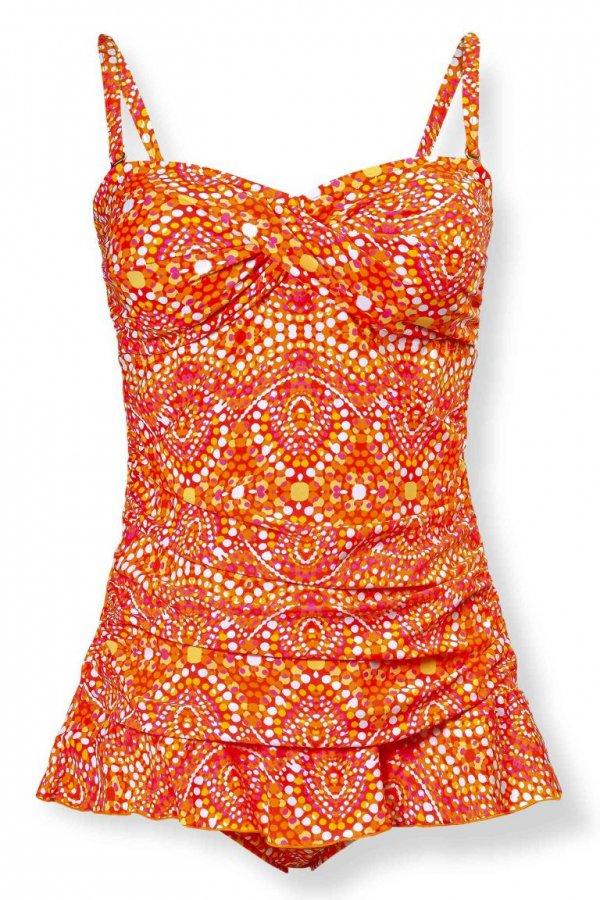 clothing, orange, swimwear, pattern, product,
