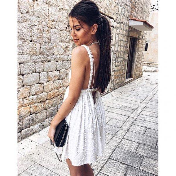 white, clothing, dress, sleeve, pattern,