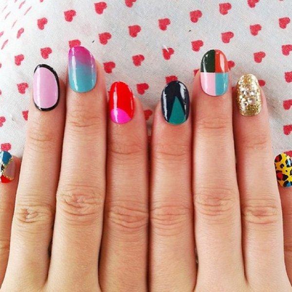 manicure, nail, finger, polka dot, pattern,