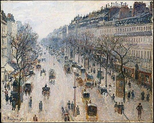 The Boulevard Montmartre on a Winter Morning - Pissarro