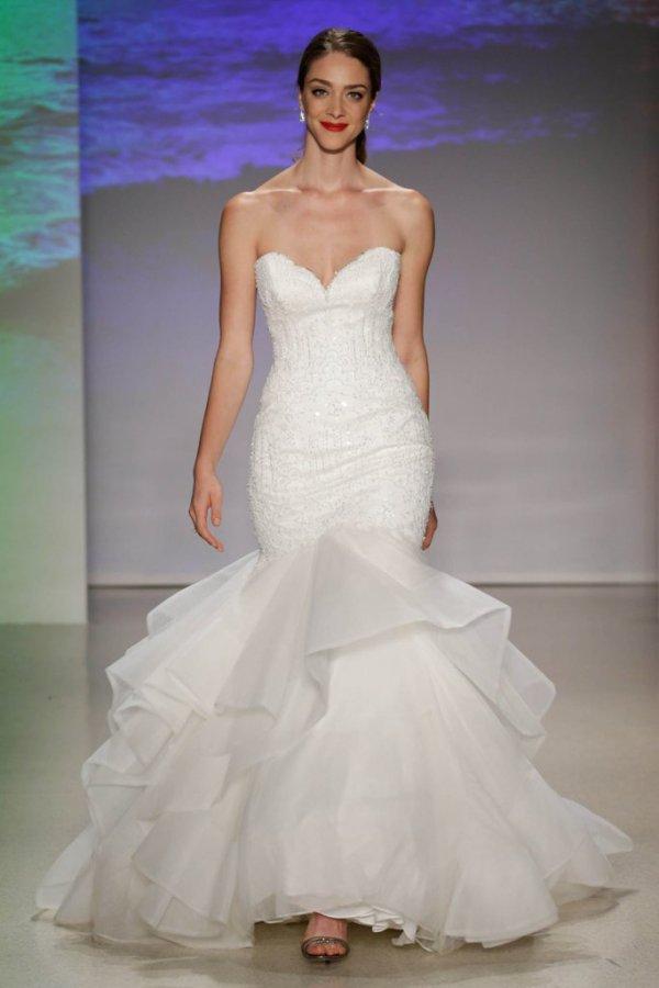 wedding dress, clothing, bridal clothing, dress, gown,