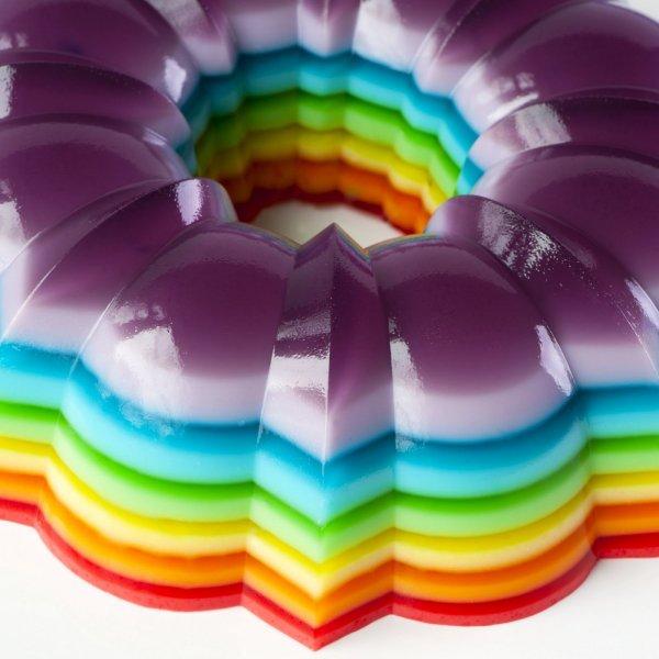 Spiked Rainbow Jello Mold