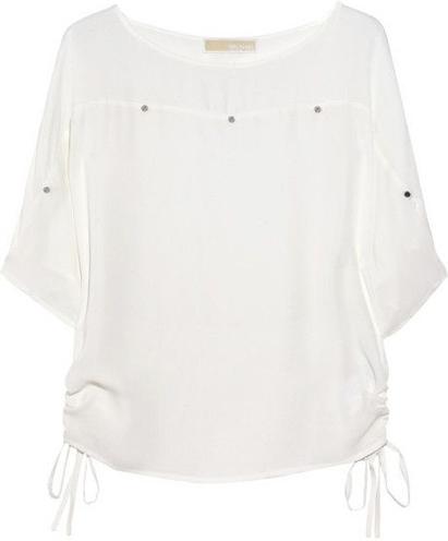 Michael Michael Kors Kimono-Sleeved Silk Blouse