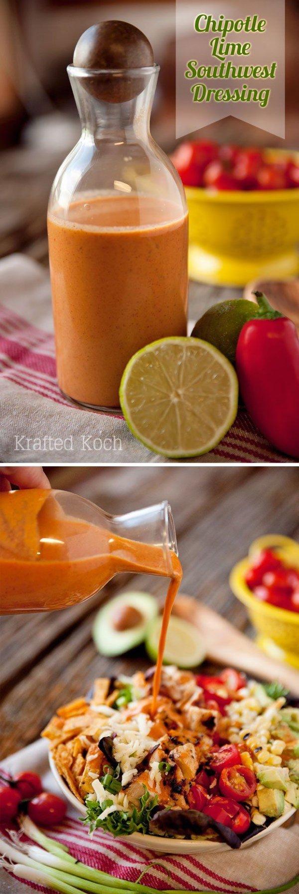 Chipotle Lime Southwest Salad Dressing