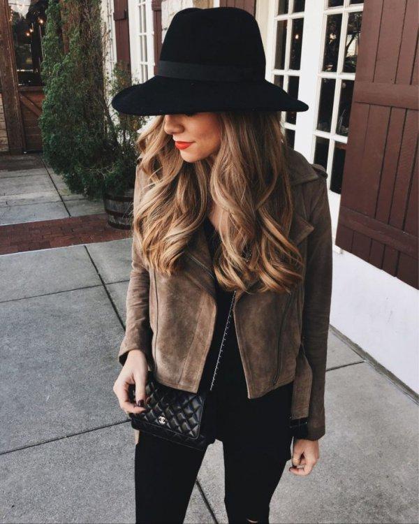 clothing, jacket, shoulder, headgear, leather jacket,