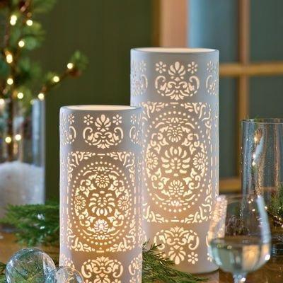Pierced Porcelain Vases
