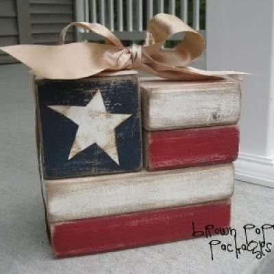 Use Leftover Wood Blocks to Make a Cute Flag